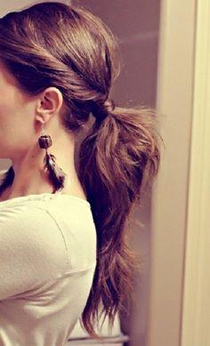 Twisty ponytail.