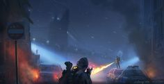 ArtStation - (The division)concept art practice - Speed Painting, Xu Zhang