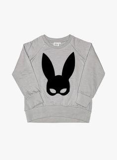 Beau Loves Raglan Jumper Grey Rabbit Mask - FINAL SALE