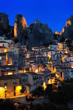 Castelmezzano by night, Potenza, Italy