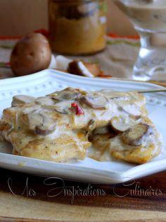 escalope sauce forestiere aux champignons 1