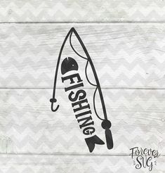 Fishing Svg Eps Dxf Png Jpg Handwriting Handlettered Black Text Printable Jpg Digital Cut File Cricut Cutting Ironon Vector Files Clip Art
