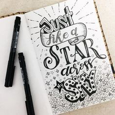 Just like a Star - beautiful typography