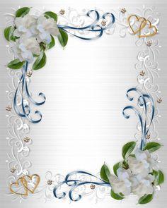 Wedding Invitation Background, Photo Wedding Invitations, Gardenias, Wedding Frames, Wedding Cards, 50th Birthday, Birthday Wishes, Picture Borders, State Image