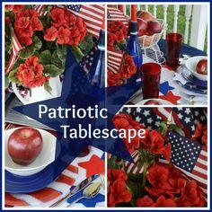 Patriotic Tablescape Collage