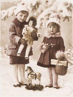 JanetK.Design Free digital vintage stuff: Kerst: