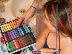 How to Hair Chalk – Hair Chalking Tutorial - Modern Wacky Hair Days, Crazy Hair Days, Hms Pinafore, Hair Chalk, Halloween Hair, Outfits For Teens, My Images, Hair And Nails, Hair Makeup