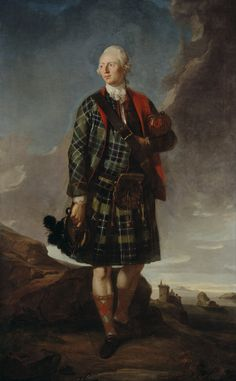 Sir Alexander Macdonald Baronet of Sleat and Baron Macdonald of Slate ~ by George Chalmers. Sir Alexander was head of the Clan Uisdean. He is portrayed as chief of his ancient celtic clan, in the traditional heart of the their lands. Clan Macdonald, Macdonald Tartan, Scottish Fashion, Scottish Dress, Scottish Clothing, Celtic Clothing, Scottish Culture, Scotland History, Baronet