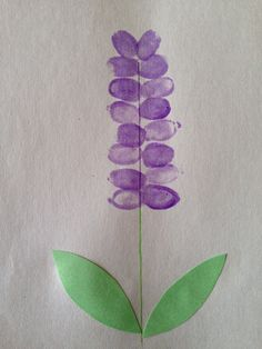 Thumbprint/fingerprint Hyacinth flower craft for Spring