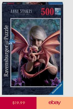 Ravensburger – Jigsaw Puzzle – 500 Pieces – The Girl With The Dragon – Anne Stokes 14643 Anne Stokes, Ravensburger Puzzle, Gothic Poster, High Fantasy, Fantasy Art, Anime Fantasy, Minions, Spiderman, Victorian Goth