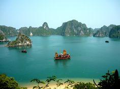 Just look at those colors! Halong Bay, Vietnam