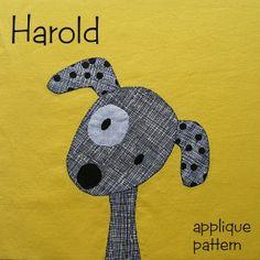 Harold – easy puppy dog applique pattern