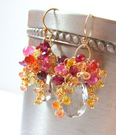 Spring Bouquet earrings by Ilmare Atelier, via Flickr