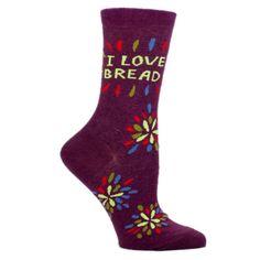 """Blue Q """"I Love Bread"""" Socks"""