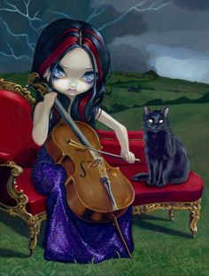 Cello Storm - Jasmine Becket-Griffith