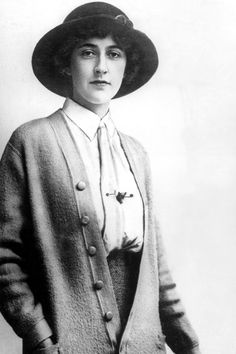 1912 - Writer Agatha Christie at the age of 22, wearing a shirt, tie and cardiganPhoto by Rex Features