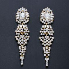 #earrings#Crystalearrings#Weddingearrings#vintage