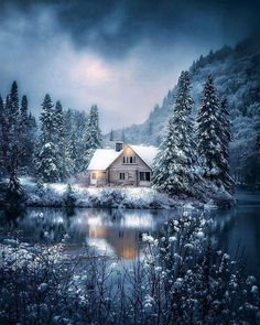 Julie Everhart Fine Art & Photography Beautiful Cabin in Winter winter photography switzerland peace tranquility is part of Beautiful cabins - Winter Szenen, Winter Cabin, Quebec Winter, Winter Pictures, Christmas Pictures, Winter Photography, Nature Photography, Christmas Scenery, Christmas Tables