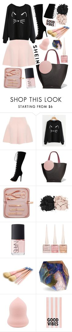 """Good vibes Only"" by felicitysparks ❤ liked on Polyvore featuring RED Valentino, WithChic, Roksanda, Ted Baker, Estée Lauder, NARS Cosmetics, Christian Louboutin, SoapRocks and PBteen"