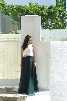 Green Skirt, Chiffon Skirt, Long Skirt, Women Skirt, Fashion Skirt, Circle skirt, Loose skirt, Prom Skirt, Engagment Skirt, Party Skirt Ivory Lace Top, Long Chiffon Skirt, Maxi Skirt Outfits, Party Skirt, Purple Yellow, Skirt Fashion, Trending Outfits, Prom, Green