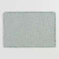 Full of casual-chic style, our modern, gray-green cotton placemats are finished with self-fringe and provide a quick update for your dining space. Green Placemats, World Market Store, Cost Plus, Casual Chic Style, Green Cotton, Table Linens, Slate, Green And Grey, Design Trends