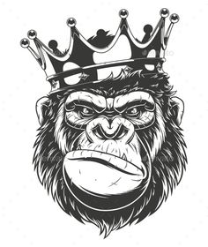 Gorilla Head Vector graphics Install any size without loss o.- Gorilla Head Vector graphics Install any size without loss of quality.ZIP archiv… Gorilla Head Vector graphics Install any size without loss of quality. Gorilla Tattoo, Graffiti Tattoo, Graffiti Art, Vector Graphics, Vector Art, Vector Design, Vector Illustrations, Body Art Tattoos, Tattoo Drawings
