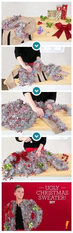 Make a splash at your Ugly Christmas Sweater party this year! Check out our inspiration and DIY steps: