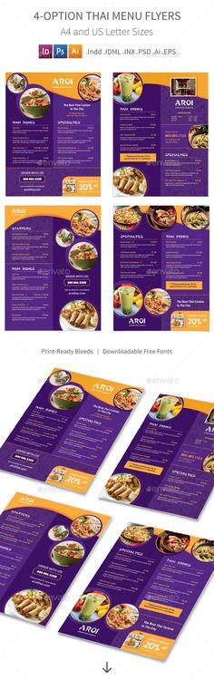 Thai Menu Flyers Template – 4 Options. Download here: http://graphicriver.net/item/thai-menu-flyers-4-options/15813978?ref=ksioks