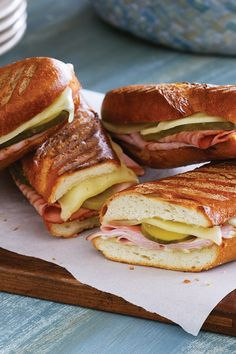 Cuban Sandwiches Recipe | Safeway - The combination of Lucerne Provolone Cheese, French bread, ham and dill pickles make this one hearty match for your panini press.