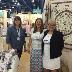 We are having a great time at Quilt Market. (Featuring Jenna, Shannon and Sue Daley) #quiltmarkethouston2015 #iloverileyblake #rileyblakedesigns #quiltmarket