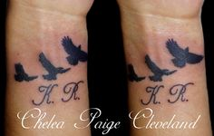 Birds and lettering Tattoo. I am a licensed Tattoo Artist, in shop, in Las Vegas,  Nevada. Want a Tattoo? Call or text 702-637-6726 #Tattoo #Tattoos #Tattooed Tattooing #Tattooist #TattooArtist  #LasVegas #LV #Nevada #NV #LicensedTattooArtist #ProfessionalTattooArtist