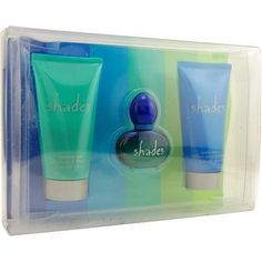 Shades By Navy For Women. Set-cologne Spray .37 OZ & Body Lotion 2 OZ & Shower Gel 2 OZ by Coty. $10.49. Packaging for this product may vary from that shown in the image above. This item is not for sale in Catalina Island. Launched by the design house of Navy, SHADES is a women's fragrance that possesses a blend of mint and citrus combine with basil leaf, with base notes of florals and fragrant wood.  It is recommended for casual wear.
