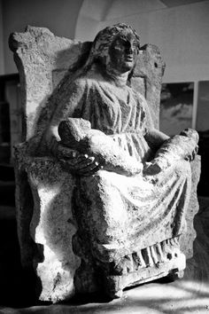 Mater matuta. An ancient Italic mother goddess (pre-Roman). She (like Isis and others) was the original Madonna.