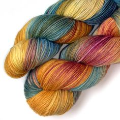 Superwash Merino Cashmere Nylon Yarn Peach Tree 430 by JulieSpins, $29.00