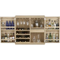 crate and barrel elan bar cabinet