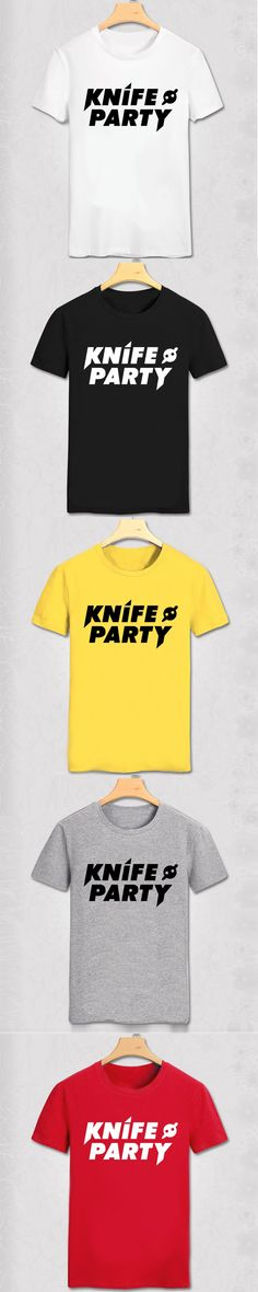 KNIFE PARTY PRINTED MENS T SHIRT EDM DUBSTEP ELECTRO MUSIC DJ DANCE RAVE TEE UKF TShirt Tee Shirt Unisex More Size and Colors