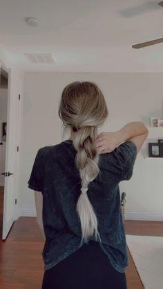 Work Hairstyles, Easy Hairstyles For Long Hair, Long Blonde Hairstyles, Hairdos, Updos, Medium Hair Styles, Curly Hair Styles, Aesthetic Hair, Look Chic