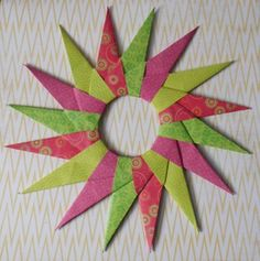 16 Point Origami Star Instructions - © Dana Hinders
