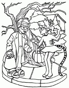 FREE Halloween Coloring Pages......I remember this from when I was in school