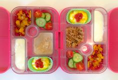 18052014 - apricots, mango, peach, pear, strawberries, cherry tomatoes, cucumber, carrot cake overnight oats (z), tomato couscous (y), veggie & rice frittata w/ ketchup, yoghurt