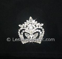 Large Crystal Pageant Award Crown & Tiara Brooch. E wholesale tiaras.com - USD $19.99