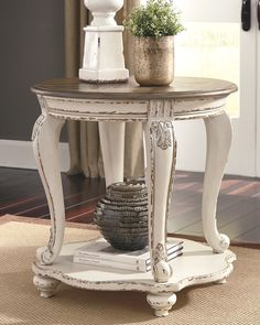 Realyn End Table. Realyn End Table Decor, Ashley Furniture, Painted Furniture, French Country Living Room, Furniture, Ashley Furniture Homestore, Home Decor, Room Decor, Living Room End Tables