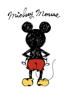 Arte Do Mickey Mouse, Mickey Mouse Drawings, Mickey Mouse Tattoos, Mickey Mouse Wallpaper, Mickey Mouse And Friends, Cute Disney Wallpaper, Disney Mickey Mouse, Disney Character Drawings, Disney Drawings