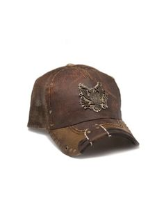589250583bc Rustix Eagle Brown Leather Hat Leather Hats