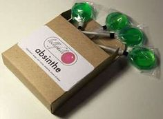 Absinthe Lolli's  38 Alcoholic Treats - From Absinthe Gummi Bears to Liquored Popcorn Snacks (CLUSTER)