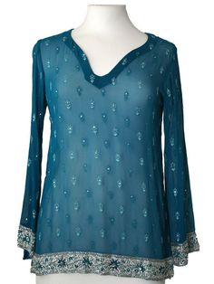 Green Silk Kurti Top