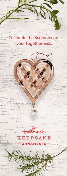 The rose gold pieces of this Hallmark Keepsake Ornament are intricately woven together representing the beautiful intertwining of your lives. Celebrate the beginning of your marriage this holiday season with the help of this Our First Christmas Heart Ornament. This is truly a thoughtful decoration to add to your collection during this festive time.
