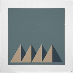 #84 Mountain range – A new minimal geometric composition each day