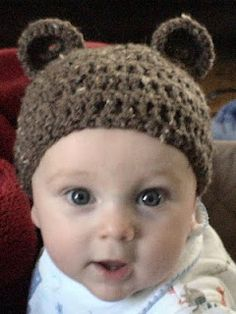 This is my neighbor's 6 month old in Indiana.  I made this hat for him.  Too cute!