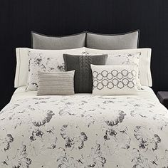 Vera Wang 'Nordic Leaves' Duvet Cover Set available at Duvet Sets, Duvet Cover Sets, Pottery Barn, Modern Duvet Covers, Ikea, Shabby, New Beds, Luxury Bedding Sets, Queen Duvet
